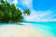 Duschrückwand Maldives island