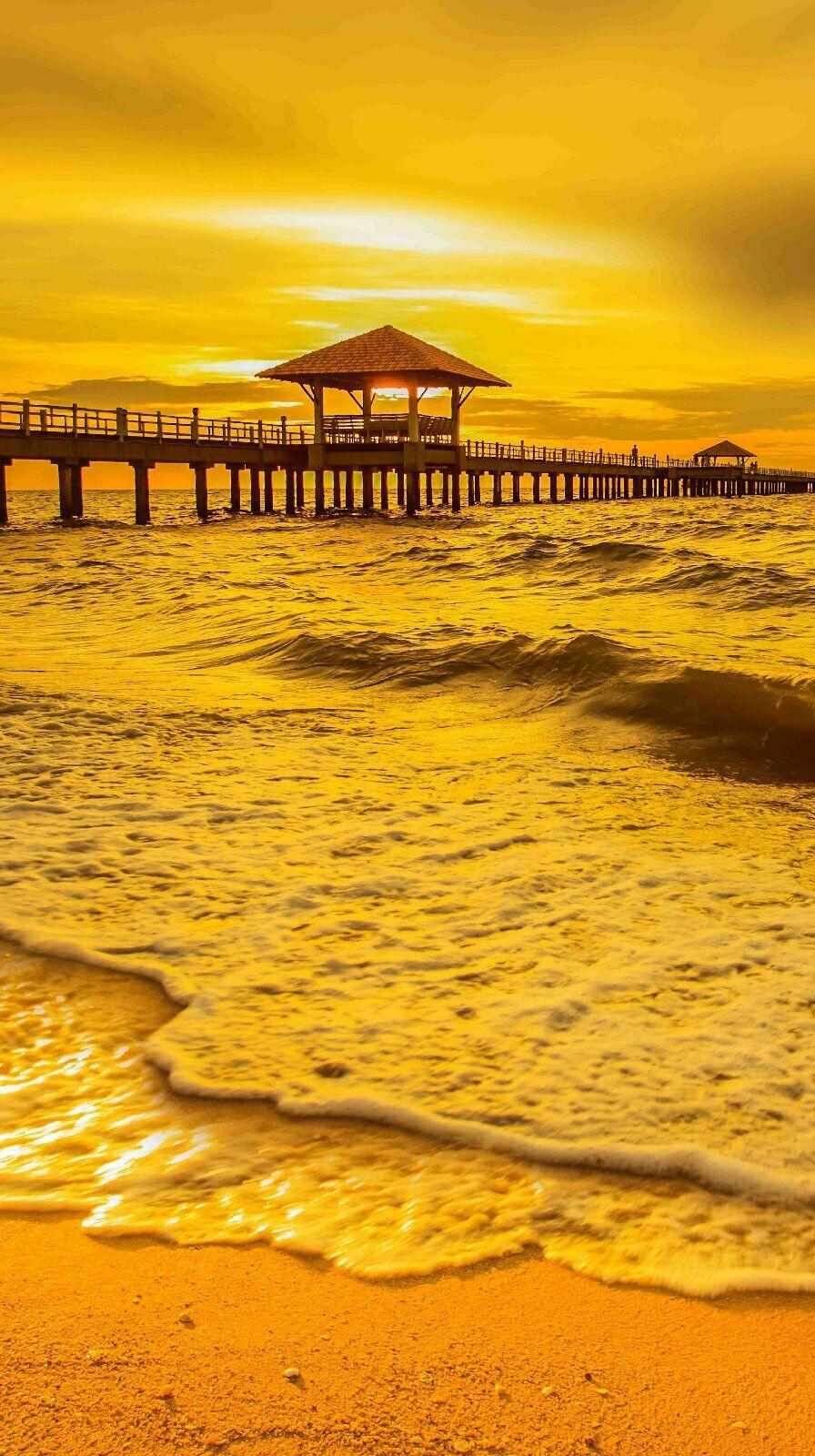 Eck Duschrückwand Rückwand Dusche Alu Sonnenuntergang Meer Strand  Duc17