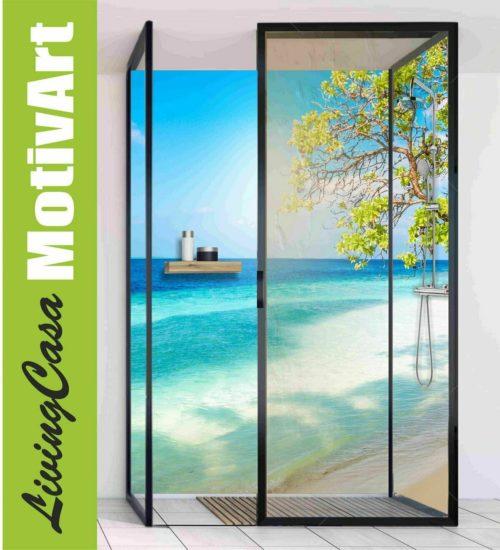 Duschrückwand Motiv Strand Meer Urlaub