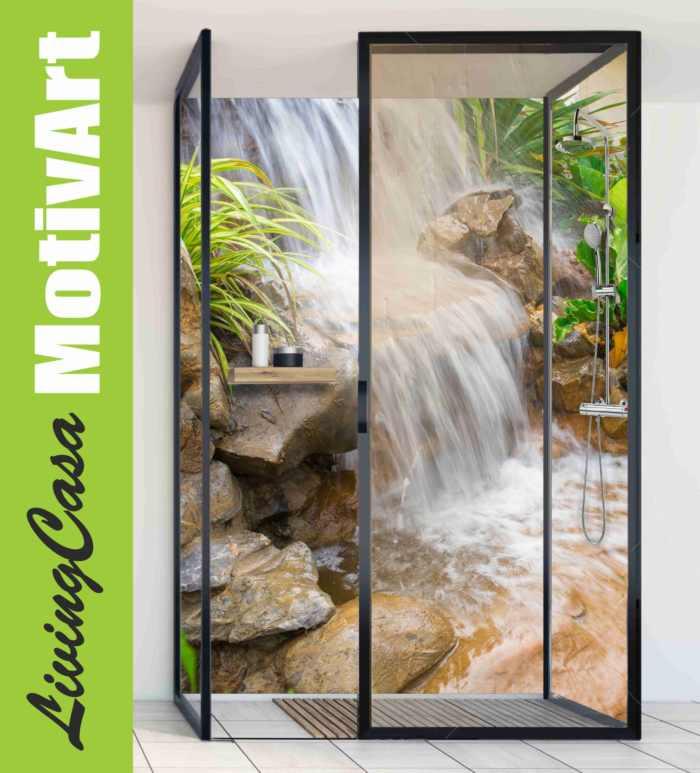 Alu Duschrückwand Wasserfall kaufen